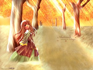 Rating: Safe Score: 17 Tags: autumn black_eyes brown_hair club_maniax dress long_hair naruse_chisato tree User: 秀悟