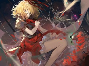 Rating: Safe Score: 14 Tags: blonde_hair dress elise_(piclic) flowers gray_eyes medicine_melancholy short_hair sky stars touhou tree User: BattlequeenYume
