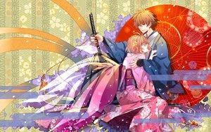 Rating: Safe Score: 65 Tags: aliasing brown_eyes brown_hair flowers japanese_clothes katana kimono male sakura_(tsubasa) short_hair sword syaoran tsubasa_reservoir_chronicle umbrella weapon w_w_w_wloveless User: STORM