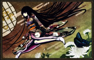 Rating: Safe Score: 48 Tags: black_eyes black_hair butterfly flowers japanese_clothes kimono long_hair mubouou_aasaa original User: Tensa
