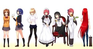 Rating: Safe Score: 44 Tags: aozaki_aoko apron aqua_eyes arcueid_brunestud black_hair blonde_hair blue_eyes blue_hair boots bow brown_eyes brown_hair ciel flowers glasses gradient group headband headdress hisui i.f.s.f kneehighs kohaku long_hair maid pantyhose red_eyes red_hair school_uniform shingetsutan_tsukihime short_hair skirt sunflower tohno_akiha twintails white wink yellow_eyes yumizuka_satsuki User: RyuZU