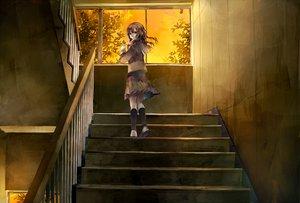 Rating: Safe Score: 77 Tags: brown_eyes brown_hair kneehighs long_hair original seifuku skirt stairs tsukioka_tsukiho User: Elnarutoxxx2020