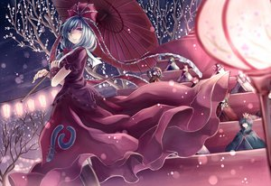 Rating: Safe Score: 120 Tags: aki_shizuha boots doll dress green_hair hakurei_reimu inubashiri_momiji japanese_clothes kagiyama_hina kawashiro_nitori kochiya_sanae long_hair miko miyakure moriya_suwako night rope shameimaru_aya snow touhou tree umbrella wolfgirl wristwear yasaka_kanako User: SciFi