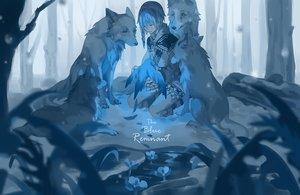 Rating: Safe Score: 57 Tags: animal aqua_eyes aqua_hair bird forest original short_hair subaru_27 tears tree wolf User: RyuZU