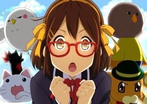 Rating: Safe Score: 108 Tags: bonta-kun brown_hair chuunibyou_demo_koi_ga_shitai! close cosplay crossover dera_mochimazzui free! full_metal_panic glasses hirasawa_yui hyouka k-on! kyoukai_no_kanata lucky_star nichijou oku_no_shi sagara_sousuke sakamoto_(nichijou) school_uniform suzumiya_haruhi_no_yuutsu tamako_market User: Wiresetc