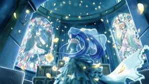 Rating: Safe Score: 81 Tags: blue_eyes blue_hair dress flowers frederica_bernkastel furudo_erika lambdadelta night petals umineko_no_naku_koro_ni zen_(weishanzhe) User: HawthorneKitty