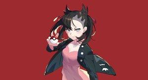 Rating: Safe Score: 66 Tags: aqua_eyes black_hair choker dress mary_(pokemon) pokemon red short_hair tsubasa19900920 twintails User: otaku_emmy