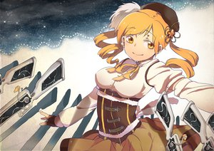 Rating: Safe Score: 19 Tags: blonde_hair gun hat mahou_shoujo_madoka_magica tomoe_mami weapon yellow_eyes User: HawthorneKitty