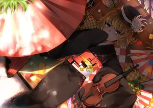 Rating: Safe Score: 41 Tags: blonde_hair blush hat instrument japanese_clothes kazetto kimono lunasa_prismriver shade short_hair touhou umbrella violin waifu2x yellow_eyes User: RyuZU