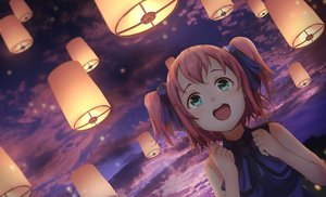 Rating: Safe Score: 55 Tags: aqua_eyes clouds kurosawa_ruby long_hair love_live!_school_idol_project love_live!_sunshine!! night otsumami red_hair ribbons sky sunset twintails User: BattlequeenYume
