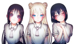 Rating: Safe Score: 91 Tags: aqua_eyes asobi_asobase black_hair blonde_hair cat_smile close glasses honda_hanako long_hair nomura_kasumi olivia_(asobi_asobase) purple_eyes red_eyes seifuku tsiox twintails white User: otaku_emmy