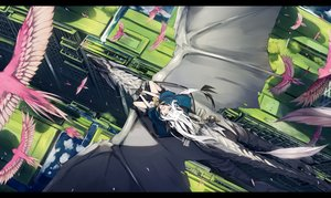 Rating: Safe Score: 64 Tags: animal animal_ears bird building city dragon gloves long_hair nagishiro_mito original water white_hair User: BattlequeenYume