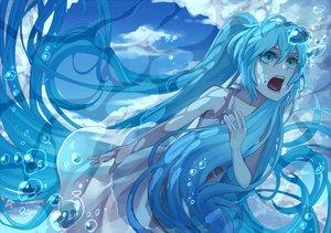 Rating: Safe Score: 73 Tags: aqua_eyes aqua_hair bubbles dress hatsune_miku long_hair rby twintails underwater vocaloid water User: HawthorneKitty
