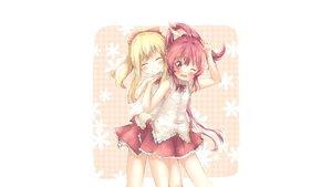 Rating: Safe Score: 53 Tags: 2girls blonde_hair blush kuma21543 long_hair pink_eyes pink_hair ponytail sugiura_ayano toshinou_kyouko wink yuru_yuri User: mattiasc02