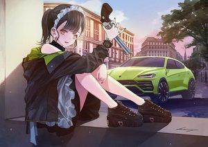 Rating: Safe Score: 33 Tags: car gun koh_(minagi_kou) original signed weapon User: sadodere-chan