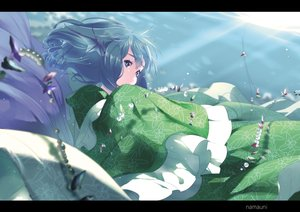 Rating: Safe Score: 52 Tags: mermaid namauni touhou underwater wakasagihime water watermark User: luckyluna