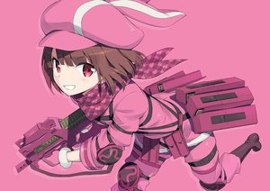 Rating: Safe Score: 41 Tags: gochou_(atemonai_heya) gun_gale_online kohiruimaki_karen llenn_(sao) loli pink sword_art_online sword_art_online_alternative:_gun_gale_online User: luckyluna