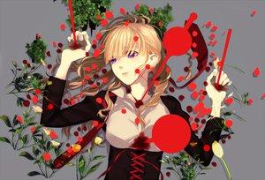 Rating: Safe Score: 100 Tags: beatrice blonde_hair blood flowers purple_eyes umineko_no_naku_koro_ni User: HawthorneKitty