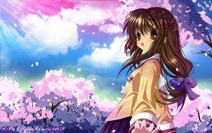 Rating: Safe Score: 67 Tags: cherry_blossoms clannad flowers ibuki_fuuko User: Maboroshi