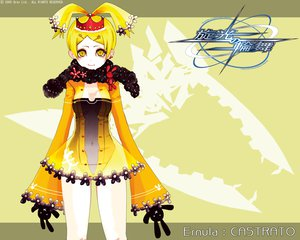 Rating: Safe Score: 4 Tags: animal_ears blonde_hair breasts bunny bunny_ears bunnygirl cleavage crown dress ernula flowers navel scarf see_through senko_no_ronde short_hair watermark yellow_eyes User: Oyashiro-sama