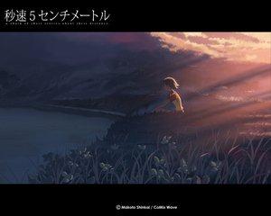 Rating: Safe Score: 20 Tags: brown_hair byousoku_5_centimetre clouds grass shinkai_makoto short_hair sky sumida_kanae water User: Oyashiro-sama