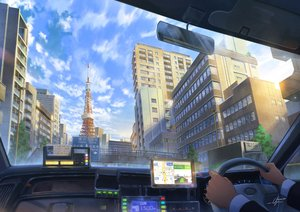 Rating: Safe Score: 34 Tags: building car city clouds niko_p original scenic signed User: FormX