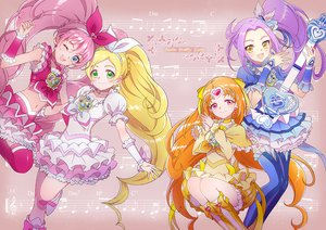 Rating: Safe Score: 11 Tags: aikatsu! aqua_eyes blonde_hair braids cure_beat cure_melody cure_rhythm dress green_eyes group guitar hoshi_(xingspresent) houjou_hibiki instrument kurokawa_ellen long_hair minamino_kanade music navel orange_hair pink_eyes pink_hair ponytail precure purple_hair shirabe_ako siren_(suite_precure) skirt suite_precure thighhighs twintails wink wristwear yellow_eyes User: RyuZU