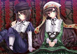 Rating: Safe Score: 68 Tags: 2girls bicolored_eyes hat lolita_fashion rozen_maiden souseiseki suiseiseki toshi twins User: FormX