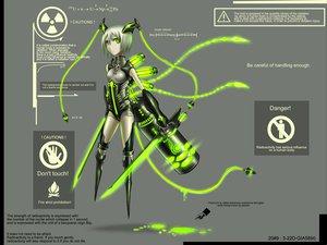 Rating: Safe Score: 226 Tags: anthropomorphism gia gray green_eyes original short_hair sword twintails weapon white_hair User: Tensa