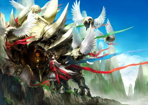 Rating: Safe Score: 127 Tags: armor ribbons tagme tagme_(character) wings youshun_(naturaljuice) zoids User: opai