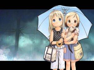 Rating: Safe Score: 6 Tags: ana_coppola animal ferret ichigo_mashimaro rain sakuragi_matsuri umbrella water User: Oyashiro-sama