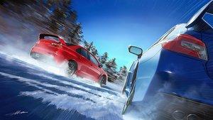 Rating: Safe Score: 29 Tags: car m.m_(chosuke320) original scenic signed snow tree User: mattiasc02