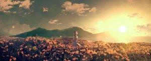 Rating: Safe Score: 65 Tags: clouds flowers kudou_chitose kumamoto_nomii-kun nijisanji polychromatic scenic short_hair sky sunset User: Dreista