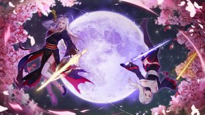 Rating: Safe Score: 22 Tags: 2girls dungeon_and_fighter female_slayer_(dnf) flowers long_hair milcona red_hair rose sword thighhighs vagabond_(dnf) weapon white_hair User: Fepple