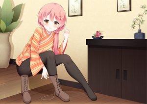 Rating: Safe Score: 45 Tags: blush fengli_(709622571) flowers japanese_clothes kurama_koharu long_hair pantyhose pink_hair ponytail senren_banka yellow_eyes User: BattlequeenYume