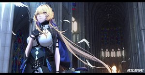 Rating: Safe Score: 52 Tags: bianca_(punishing:_gray_raven) blonde_hair breast_hold breasts cross gloves logo long_hair punishing:_gray_raven tie xtears_kitsune yellow_eyes User: Fepple