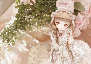 Rating: Safe Score: 72 Tags: braids brown_eyes brown_hair dress flowers headdress leaves lolita_fashion long_hair original yueyaeryyy User: Wiresetc