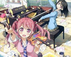 Rating: Safe Score: 122 Tags: 2girls 5_nenme_no_houkago cropped kantoku kurumi_(kantoku) original paper photoshop shizuku_(kantoku) User: luckyluna