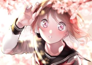 Rating: Safe Score: 29 Tags: blush brown_hair cherry_blossoms close flowers original rinku_(rin9) seifuku User: FormX