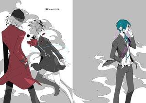 Rating: Safe Score: 43 Tags: 35_(pixiv) aragaki_shinjiro arisato_minato female_protagonist_(persona3) hat persona persona_3 polychromatic short_hair skirt socks User: noitis
