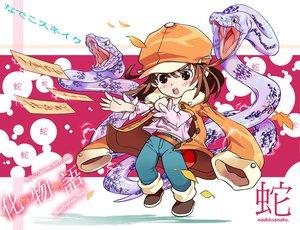 Rating: Safe Score: 11 Tags: animal bakemonogatari brown_eyes brown_hair hat monogatari_(series) sengoku_nadeko snake User: HawthorneKitty