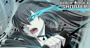 Rating: Safe Score: 84 Tags: black_hair black_rock_shooter blue_eyes choker dream_of_abell fang kuroi_mato sword twintails weapon User: STORM