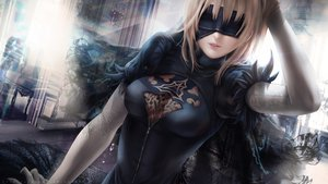 Rating: Safe Score: 62 Tags: alexandra_mae artoria_pendragon_(all) blindfold blonde_hair cosplay fate/grand_order fate_(series) nier nier:_automata realistic saber watermark User: BattlequeenYume