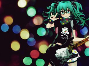 Rating: Safe Score: 66 Tags: glasses guitar hatsune_miku instrument jpeg_artifacts vocaloid User: majinjynxi