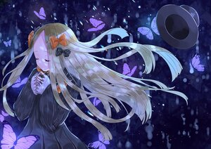 Rating: Safe Score: 32 Tags: abigail_williams_(fate/grand_order) blonde_hair blue bow butterfly dress fate/grand_order fate_(series) hat long_hair sinobi_illust User: otaku_emmy