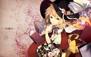 Rating: Safe Score: 56 Tags: blonde_hair blue_eyes book braids breasts cleavage cross dress flowers hat original riku_(artist) rose witch User: HawthorneKitty
