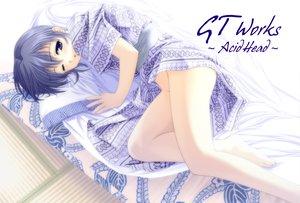 Rating: Safe Score: 19 Tags: acid_head blue_eyes blue_hair japanese_clothes white User: Oyashiro-sama