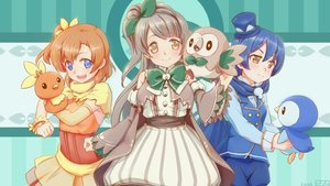 Rating: Safe Score: 41 Tags: 273akatsuki cosplay crossover kousaka_honoka love_live!_school_idol_project minami_kotori piplup pokemon rowlet sonoda_umi torchic User: FormX