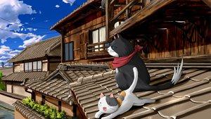 Rating: Safe Score: 32 Tags: animal cat nyamsas nyan_koi! sky User: korokun