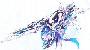 Rating: Safe Score: 376 Tags: animal_ears blue_eyes mechagirl original ozshia_(shia-ushio) sword weapon white white_hair User: Flandre93